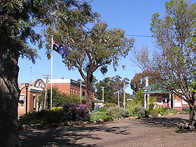 Le centre du village de Binalong