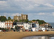 Bleak House, Broadstairs in Broadstairs, Kent, where Dickens wrote some of his novels. The house was for many years a Dickens museum, and visitors would leave notes addressed to him in the desk-drawer in his former study, overlooking harbour and sea.