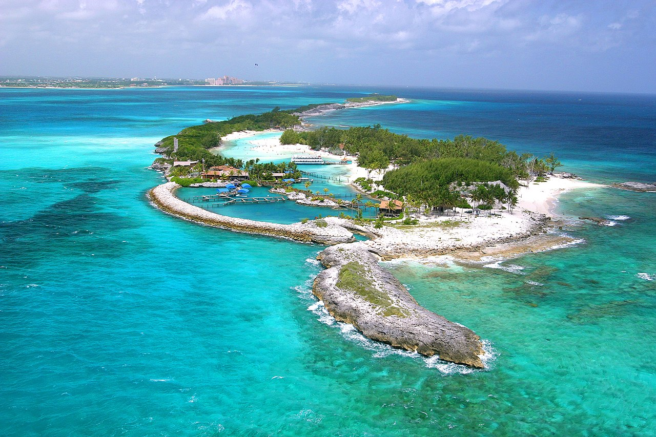 Pulau Blue Lagoon, Bahama.