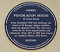 Blue Plaque at Pendragon House, Caerleon - geograph.org.uk - 1502096.jpg