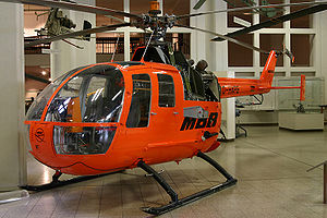 Messerschmitt-Bölkow-Blohm - The fourth MBB Bo 105 prototype in the Deutsches Museum in Munich
