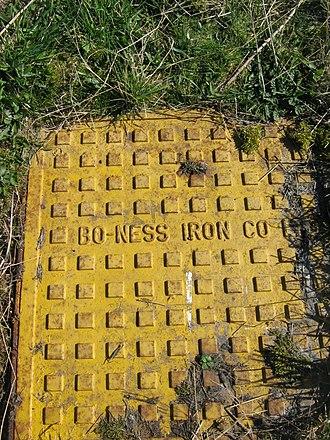 Bo'ness - Bo'ness Iron Co.drain cover