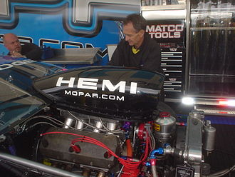Bob Glidden - Glidden working on a Pro Stock car in 2005