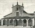 Bobbio facciata della chiesa di San Colombano xilografia di Barberis.jpg