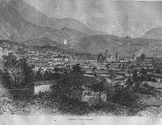 History of Bogotá - Bogotá in 1887