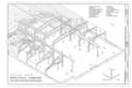 Boiler Shop Structural Isometric - Southern Pacific, Sacramento Shops, Boiler Shop, 111 I Street, Sacramento, Sacramento County, CA HAER CA-303-B (sheet 4 of 5).png