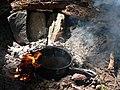 Boiling water over campfire at Dewey Lake in William O Douglas Wilderness. (54b8b3daa539454d8e14587e097c2b49).JPG