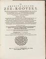 Bok om sjörövare. De Americaensche Zee-Roovers. Publicerades första gången 1678 i Amsterdam - Skoklosters slott - 102634.tif