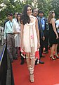 Bollywood Actress Frieda Pinto on the Red Carpet arriving at the 42nd International Film Festival of India (IFFI-2011), at Old GMC, in Panaji, Goa on November 25, 2011.jpg
