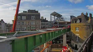 Borough Market - First span of the new Borough Market viaduct at Stoney Street
