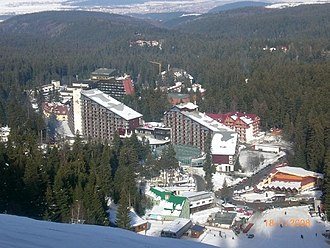 Borovets - Borovets Town from the slopes