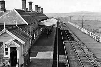 Borth railway station - Borth Station in 1962