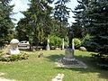 Bory Castle. Front Garden's statues. 'Awakening sunbeam' (right), Head of Jesus (left) - 54, Máriavölgy Rd., Öreghegy, Székesfehérvár, Fejér county, Hungary.JPG