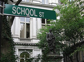 School Street - Image: Boston School St 3