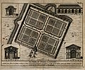 Botanic Gardens, Oxford; plan of the gardens with details of Wellcome V0014241.jpg