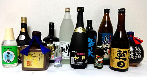 Bottled amami kokuto shochu