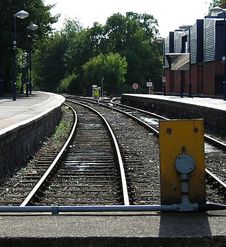 Marlow branch line - Bourne End railway station, where the driver changes ends