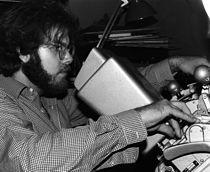 "Brad Mays editing ""Stage Fright,"" 1987.jpg"