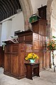 Branscombe, pulpit, St Winifred's church - geograph.org.uk - 991845.jpg