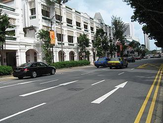 Bras Basah Road - View of Raffles Hotel from Bras Basah Road