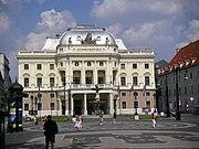 Blick vom Hviezdoslavplatz aufs Nationaltheater