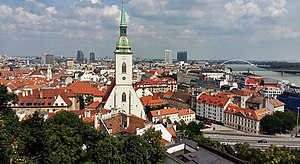 Old Town, Bratislava - Image: Bratislava Cityscape