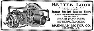 Brennan Motor Manufacturing Company - A 1902 advertisement for a Brennan engine - The Automobile Review, December 15, 1902