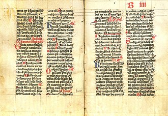 Breviary - Pages from a breviary used in the Swedish Diocese of Strängnäs in the 15th century A.D.