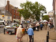Bridport, Saturday market in South Street - geograph.org.uk - 1364367