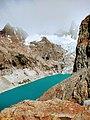 Bright blue second lake Fitz Roy Trail Parque Nacional Los Glaciares El Chalten Argentina.jpg