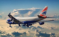 British Airways Boeing 747-400 leaving town.jpg