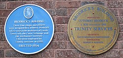 Photo of Cuthbert Brodrick blue plaque