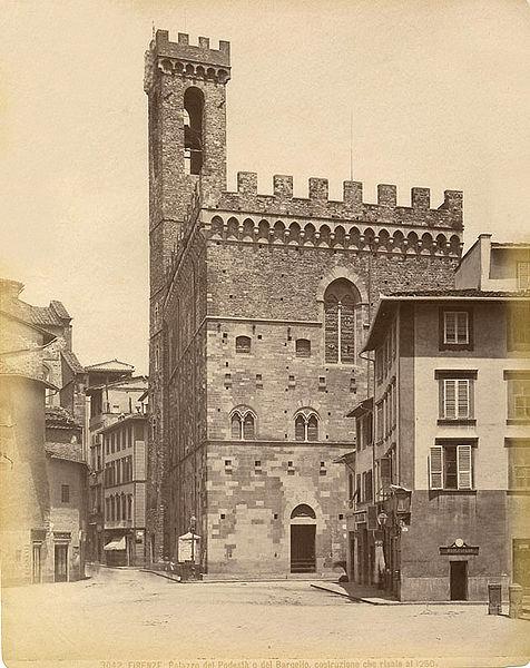 File:Brogi, Giacomo (1822-1881) - n. 3042 - Firenze - Palazzo del Podestà o del Bargello, costruzione che risale al 1260.jpg