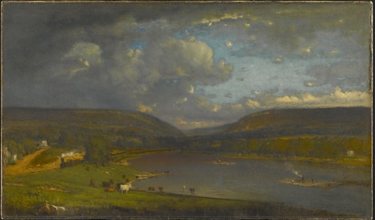 Brooklyn Museum - On the Delaware River - George Inness - overall