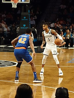 Russell with the Nets in October 2018 Brooklyn Nets vs NY Knicks 2018-10-03 td 129a - 1st Quarter.jpg