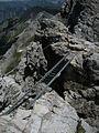 Bruecke im Mindelheimer Klettersteig, von Fiderepasshuette aus sichtbar - panoramio.jpg