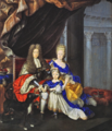 Bruni - Maximilian II Emanuel of Bavaria, Maria Antonia of Austria and their son Joseph Ferdinand.png