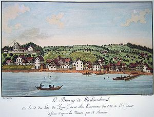 Wädenswil - Wädenswil and Lake Zürich (1794)
