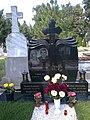 Bucuresti, Romania. CIMITIRUL BELLU CATOLIC. Mormantul fotbalistului Niculae Lupescu. (B-IV-a-B-20118) (detaliu).jpg