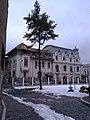 Bucuresti, Romania. Str. Biserica Amzei. Doua case de Patrimoniu (Casa Mitei Biciclista si Casa Uniunii Artistilor Plastici din Romania).jpg