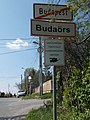 Budaörs and Budapest city limit, 2017 Pösingermajor.jpg