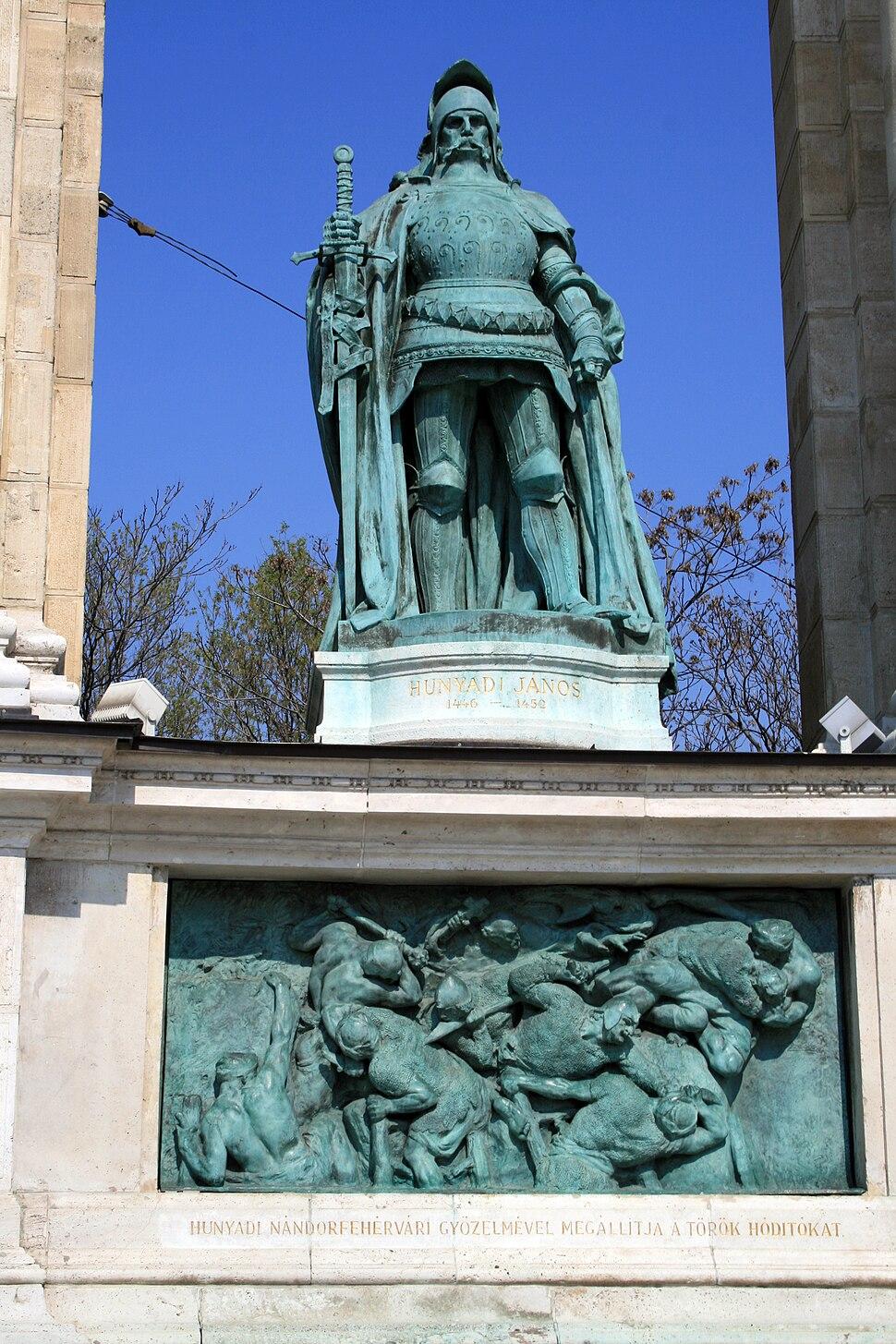 Budapest Heroes square Hunyadi J%C3%A1nos