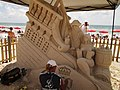 Building a sand sculpture, Sunset Beach, Treasure Island.jpg