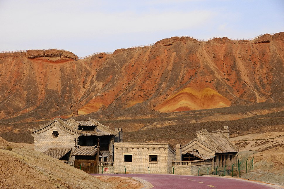 Buildings in Zhangye National Geopark