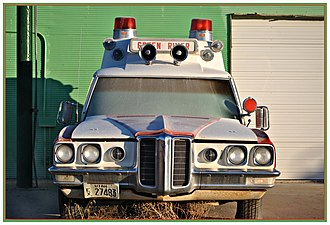 Superior Coach Company - Superior Coach Company ambulance body on 1970 Pontiac Bonneville commercial chassis.