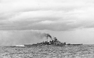 Bismarck-class battleship - Bismarck after the battle with Hood and Prince of Wales