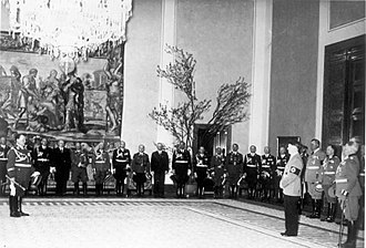 Adolf Hitler's 50th birthday - The government of Nazi Germany congratulating Hitler at the Reichskanzlei in Berlin