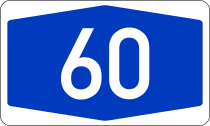 Bundesautobahn 60 number.svg