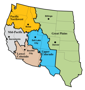 United States Bureau of Reclamation - Bureau of Reclamation regions