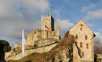 Rötteln Castle - The upper castle as seen from the main bailey